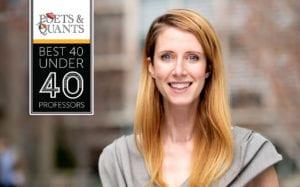 Asst. Prof. Juliana Schroeder listed on Poets & Quants Best 40 Under 40